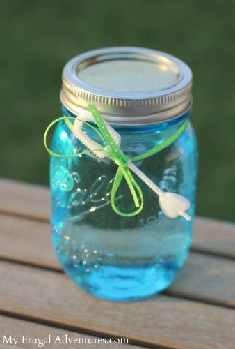Homemade Bubble Solution — A perfect children's party gift!  Just 3 ingredients and you will have big, t