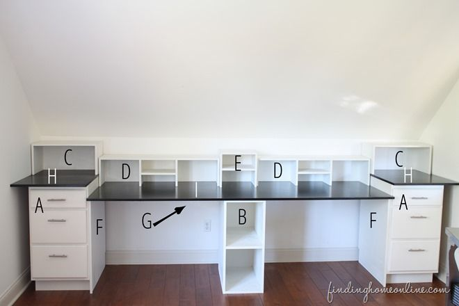BuiltInDeskMeasurements thumb Easy DIY Built In Desk Tutorial.  home decor and interior decorating ideas.