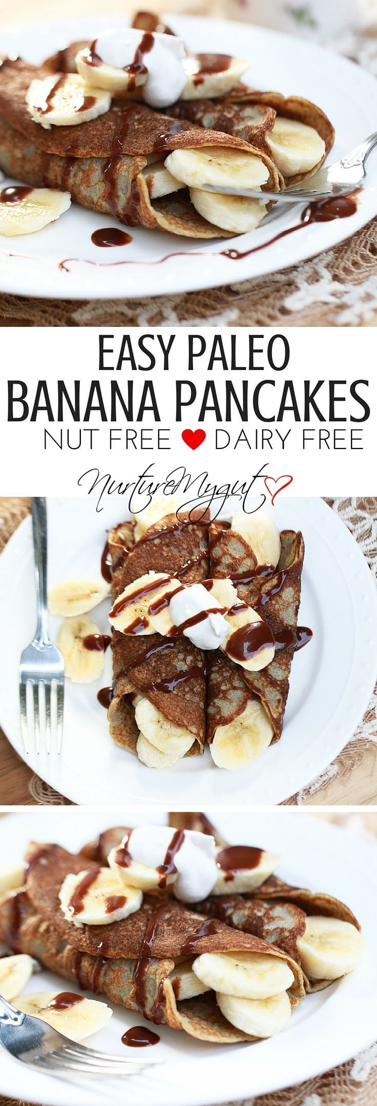 Heavenly banana pancakes which kick your Sunday breakfast up a notch!