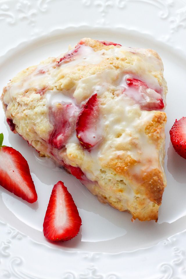 Strawberries and Cream Scones – tender, buttery, and bursting with strawberries in every bite! So much bet