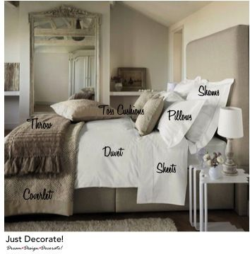 How to make a bed, layering the linens and pillows to have it look like a magazine photo shoot – sheets, d