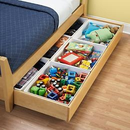 underbed toy storage!