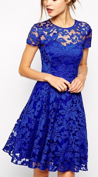 Gorgeous! I love the lace! I would make it longer…