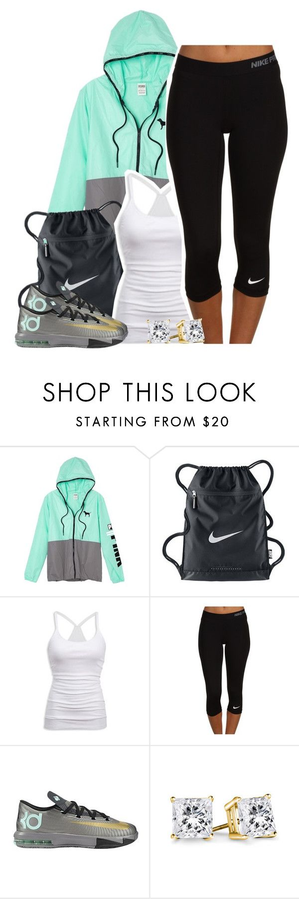 """Untitled #1296"" by lulu-foreva ❤ liked on Polyvore featuring Victoria's Secret, NIKE and American Eagle"