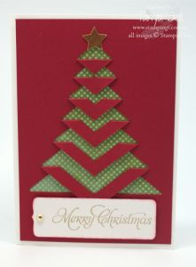 Stampin' Up! Stamping T! – Lace Folded Christmas Card