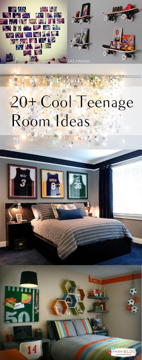 20+ Cool room ideas – they have skateboards at dollar tree that I think would work for the shelf idea