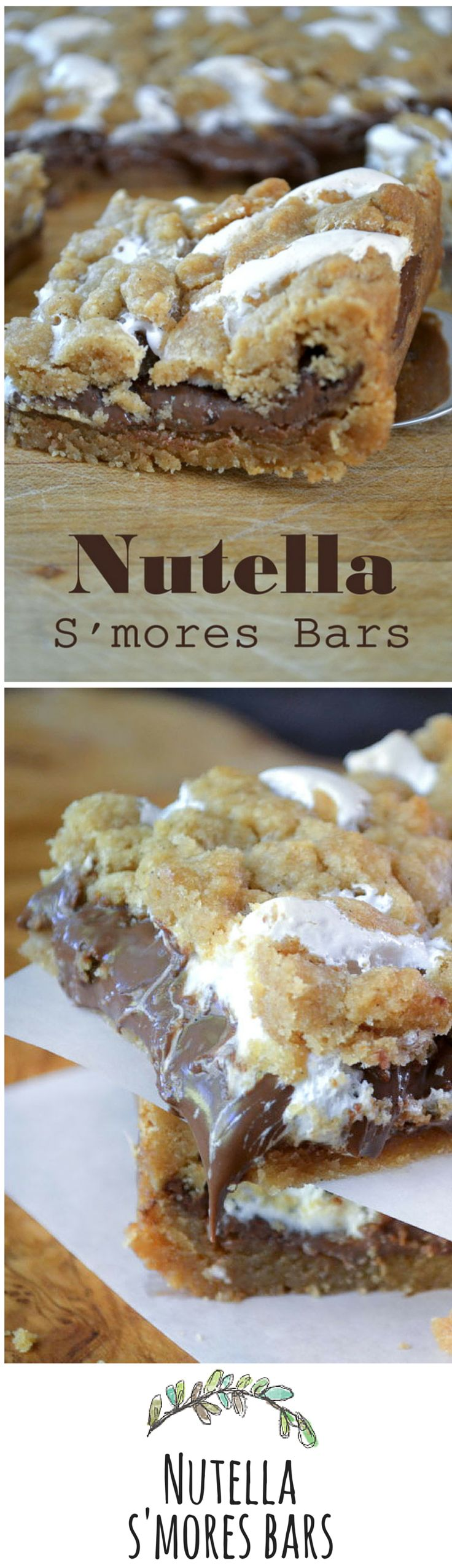 Skip the campfire and make these bars instead! What a delicious and easy dessert bar recipe with Nutella!