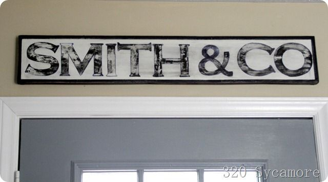 kitchen sign: print out letters onto cardstock, cut them out, trace them, fill them in with paint/sharpies