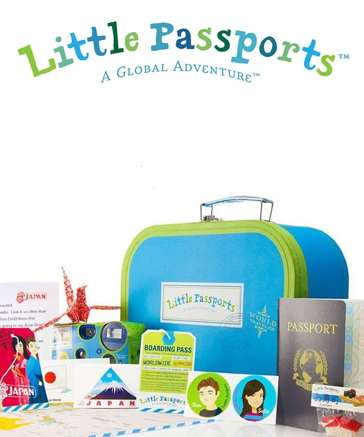 Inspire your child to learn about the world with a subscription to Little Passports! One country a month,