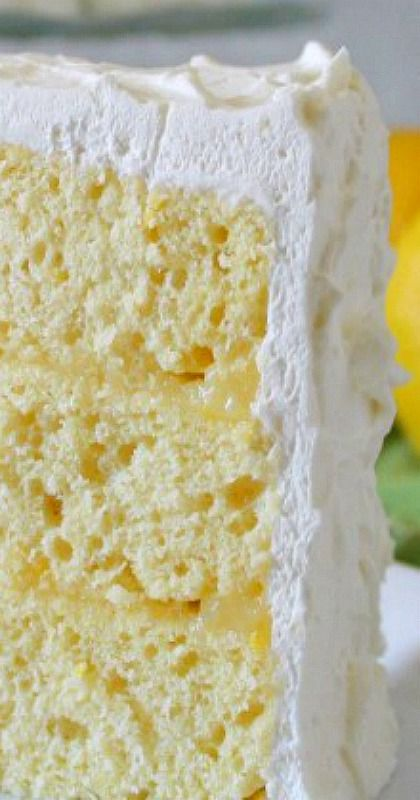 Lemon Chiffon Cake ~  This is a recipe out of a very old cookbook…  The cake is light and airy – with