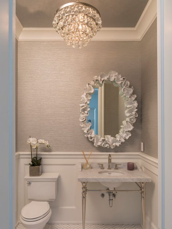 Bling Chandelier With Convertible Double Canopy…. minus the mirror could do something more sleek.