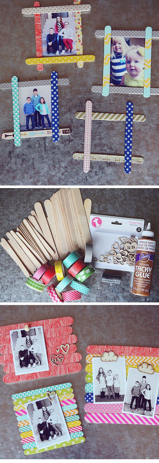 Popsicle Stick Photo Frames | 18 DIY Fathers Day Gifts from Kids for Grandpa | Easy Birthday Gifts for Dad
