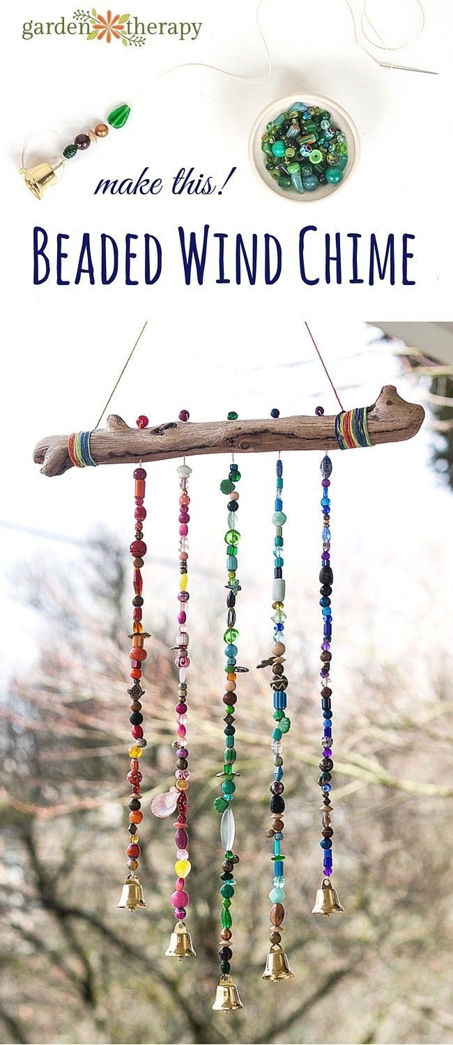 How to make a sparkling bead wind chime with bells! I'll admit I'm a bit of a craft supply hoarder and