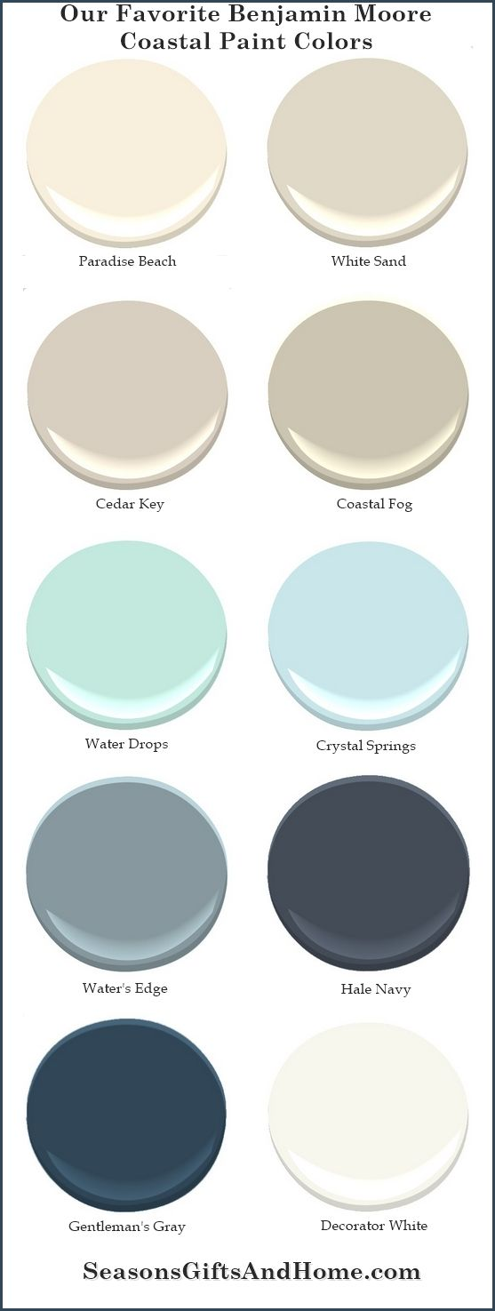 Proven paint colors that evoke the beauty of the coast. Choose a palette that reflects the colors of sand,