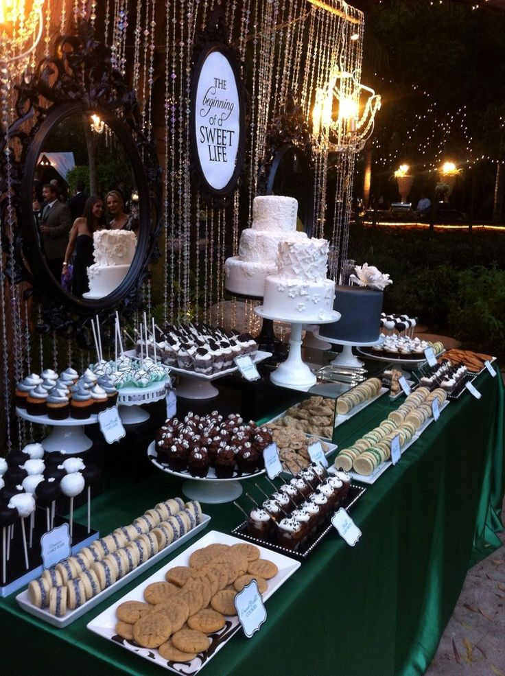 Wedding Sweets Table. We are nit cake lovers, but this incorporates everything for desserts :) Check out D