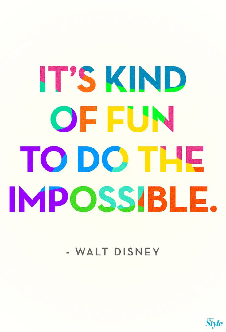 If theres anybody who knows something about doing the impossible, its Walt Disney.