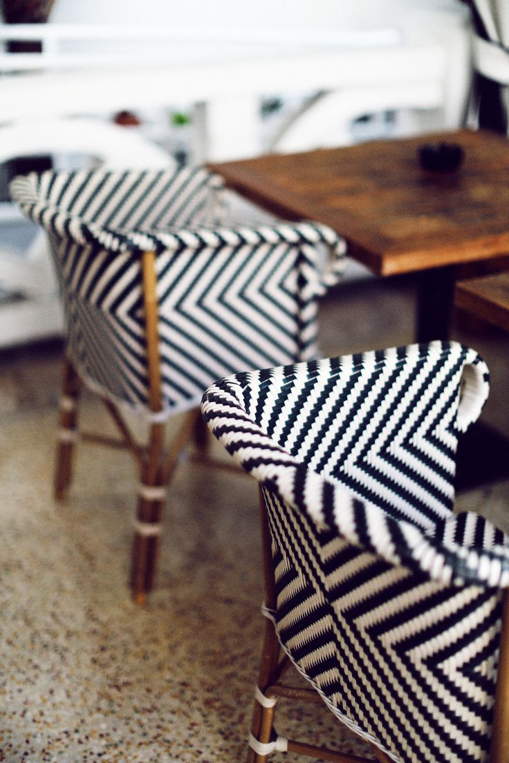 Black and white striped chairs #earnyourstripes