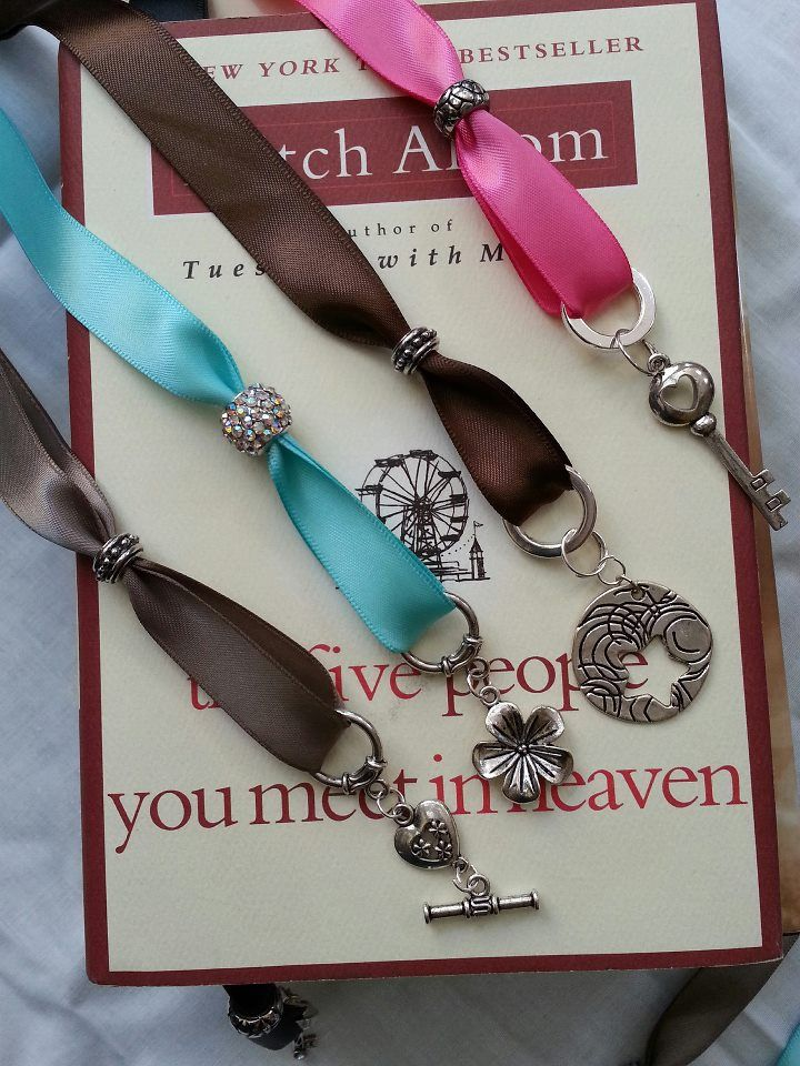 Project complete!  Charming Ribbon Bookmark – Pier 1 Knockoff