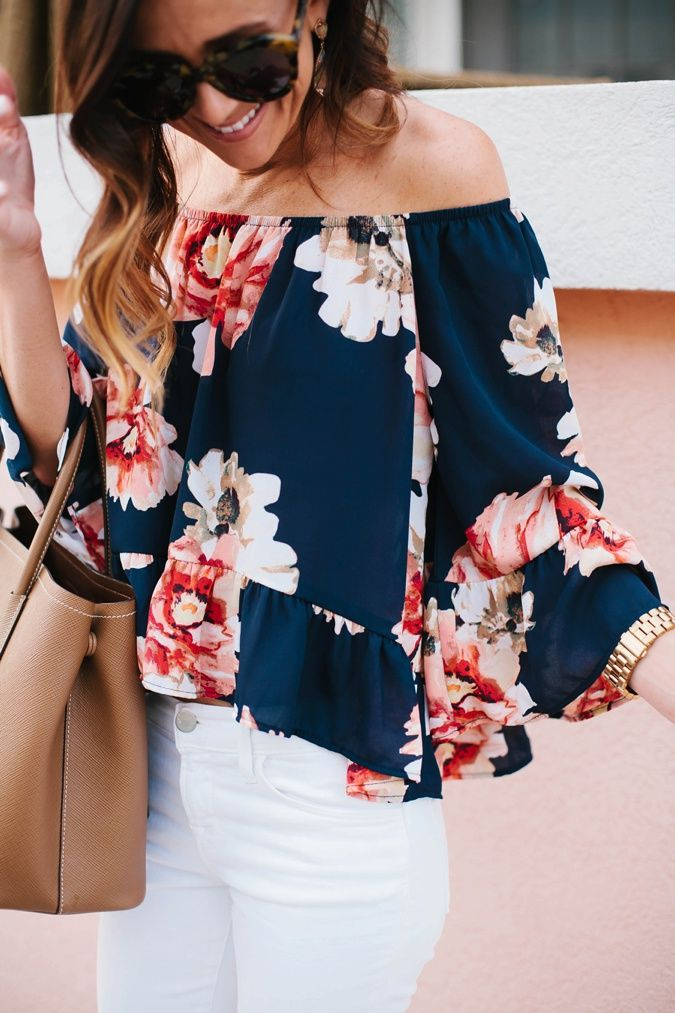 If you have spent any time on Pinterest then you have probably seen how the off the shoulder tops and dres