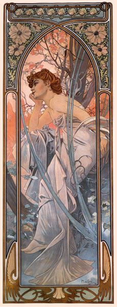 Evening Reverie – Alphonse Mucha