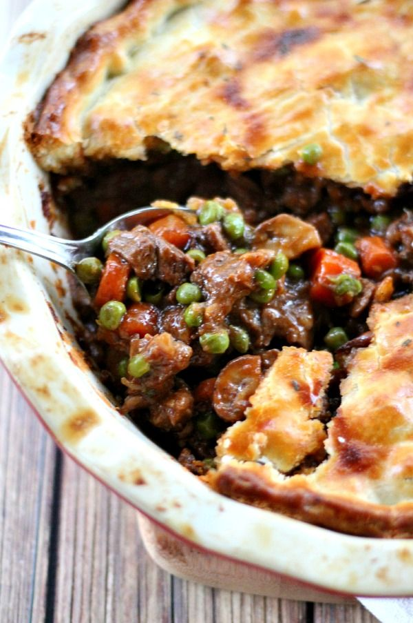 The filling in this Beef Pot Pie is guaranteed to create the best, most deep-flavored pot pie you've ever