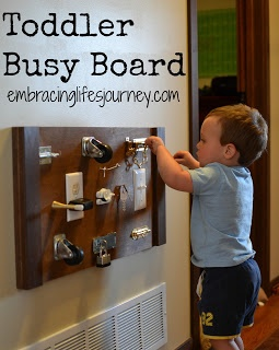 Embracing Life's Journey: Toddler Busy Board