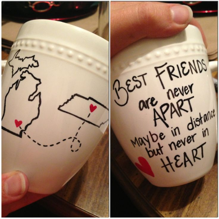 """""""Best friends"""" mug. I'd like to makr something like this for my mom, but obviously instead of best fri"""