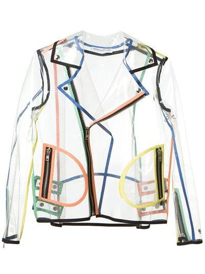 Wanda Nylon Transparent Biker Jacket