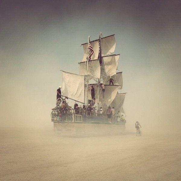 Burning Man Festival – desert ship