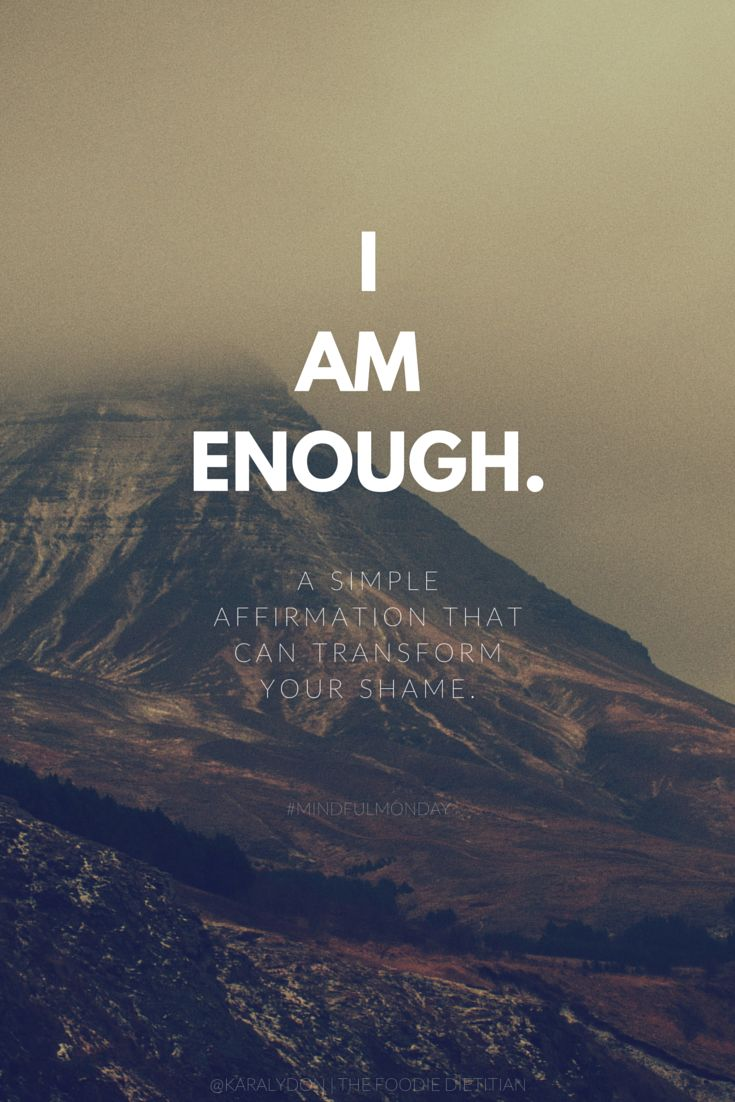 This Mindful Monday, I'm sharing a simple but way powerful affirmation that can transform your shame and y