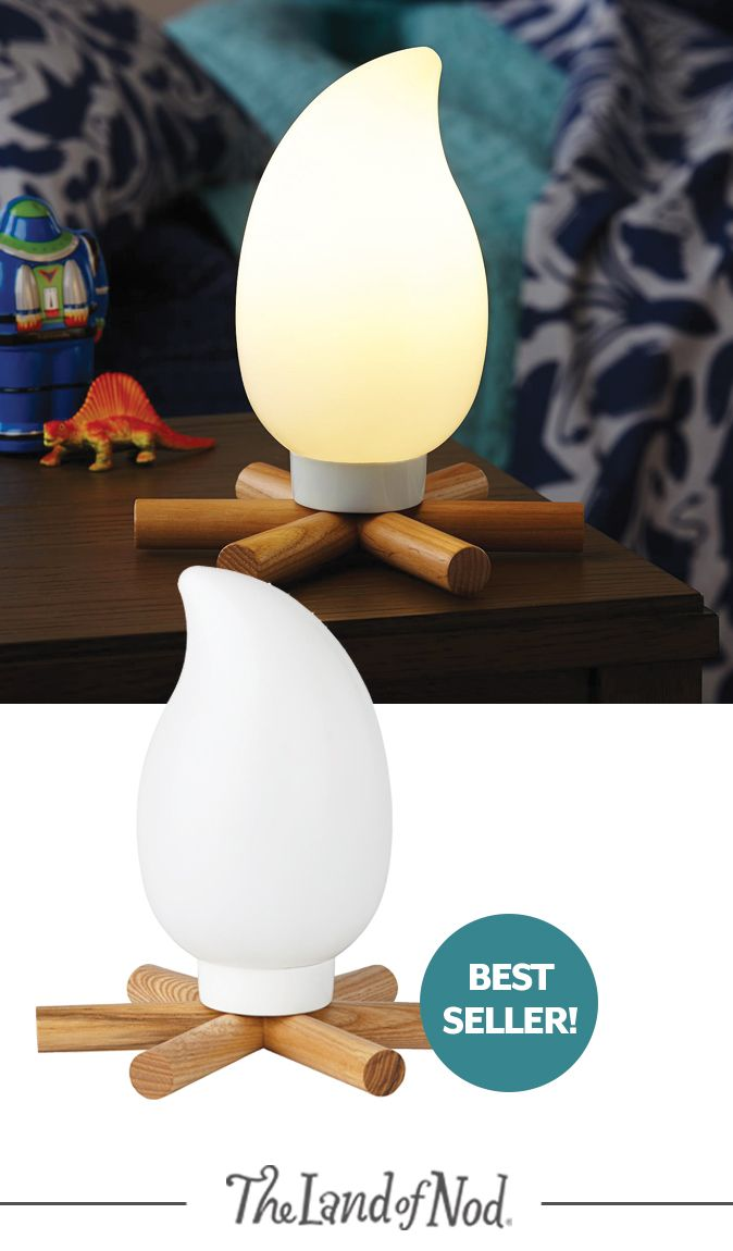 It might not be great for roasting marshmallows, but this Campsite Nightlight is much more convenient than
