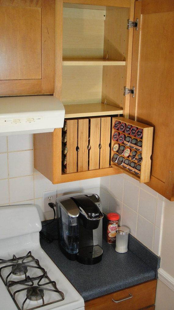 KCup Storage For Kitchen Cabinet right hand cabinet by donalddavie, $35.00, love this idea beside my f