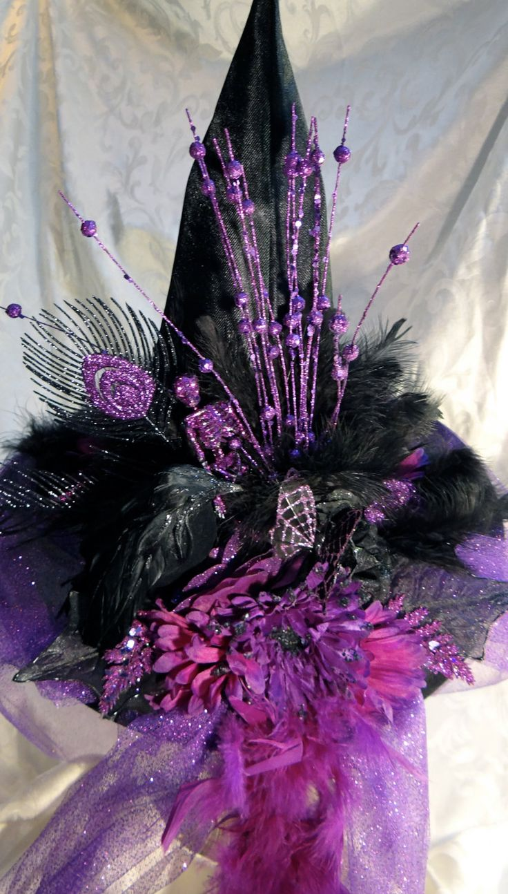 Karens  Black Peacock Witch Hat. $68.00, via Etsy.