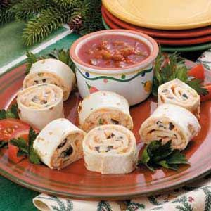 Fiesta Pinwheels. This is one of those recipes where I would use fat free or low fat versions of the cream
