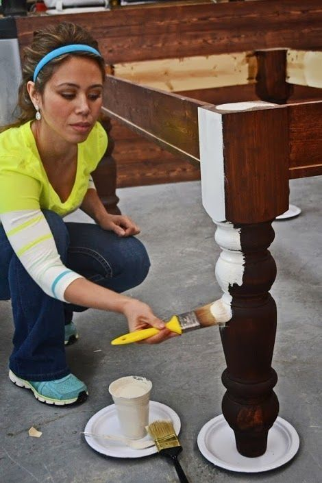 Really good tutorial — How To Paint Furniture | Old World Chippy Distressed Paint Finish | Ana White – Ho