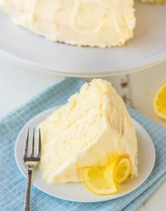 Lemon Cake Recipe with Lemon Cream Cheese Frosting