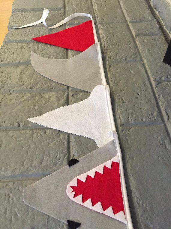 Jaws Shark Banner/ Shark Bunting/ Shark Party by BuntingSeason