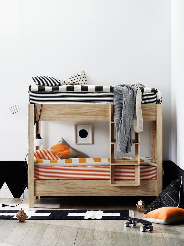 A perfectly styled bunk bed