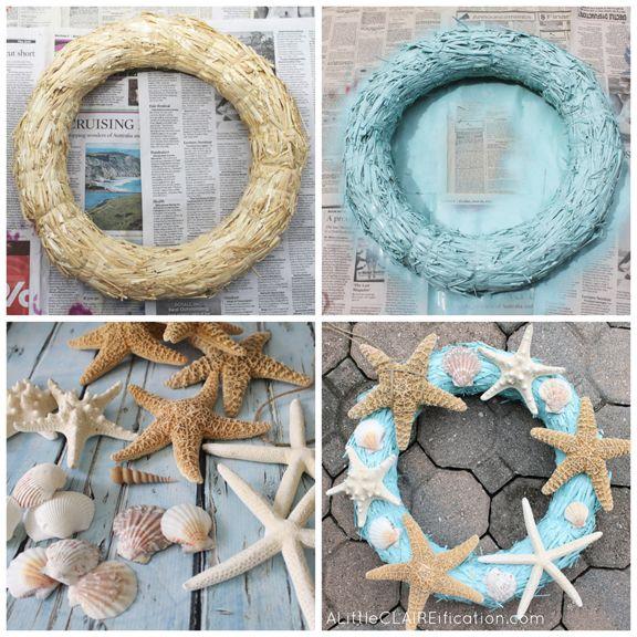 DIY Starfish Wreath at ALittleCLAIREIFIC…