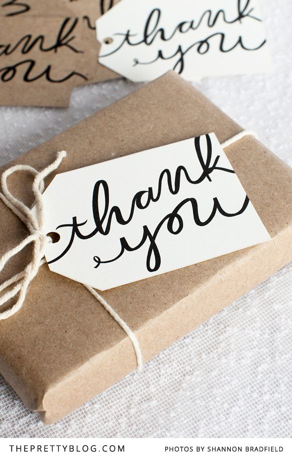 Free printable thank you tags designed by Bells and Whistles Stationery || www.theprettyblog…