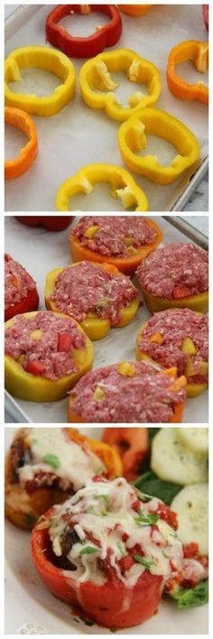 Mini Meatloaf Pepper Rings. Replace with extra lean ground beef or even extra lean minced turkey. :) H