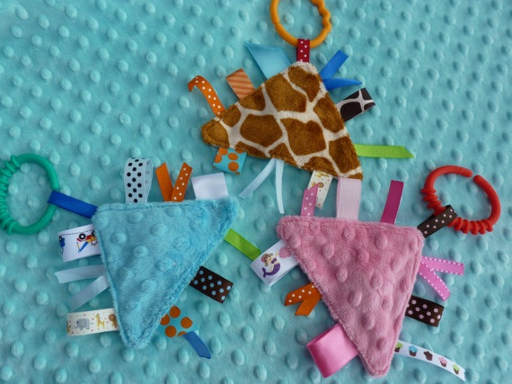 Pip Squeak Minky Ribbon Toy CHOOSE ONE lots of by twigsandtweets, $4.75