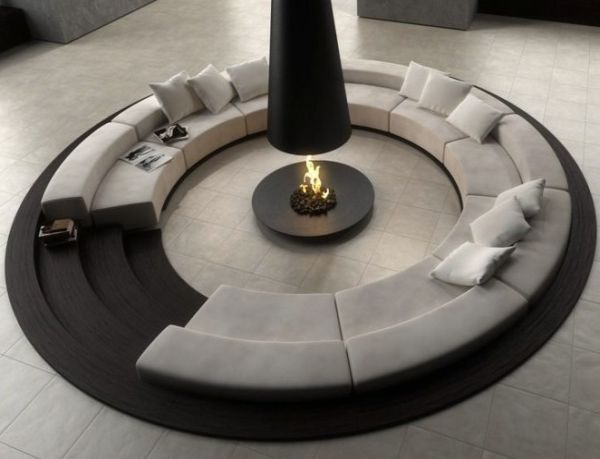 Modern interior design ideas for trendy spaces. If you take out the middle this would be a good place to p