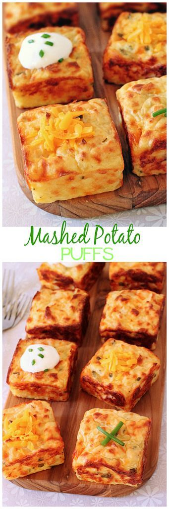 Mashed potatoes get a new lease on life with the help of cheddar, sour cream, chives and a muffin pan!