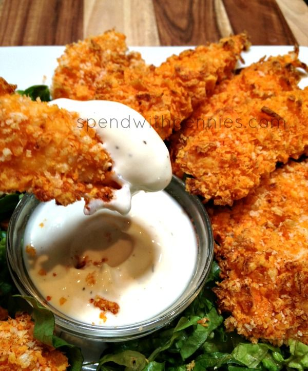 Doritos Crusted Chicken Strips Love it? Pin it! (Just click the photo!) Follow Spend With