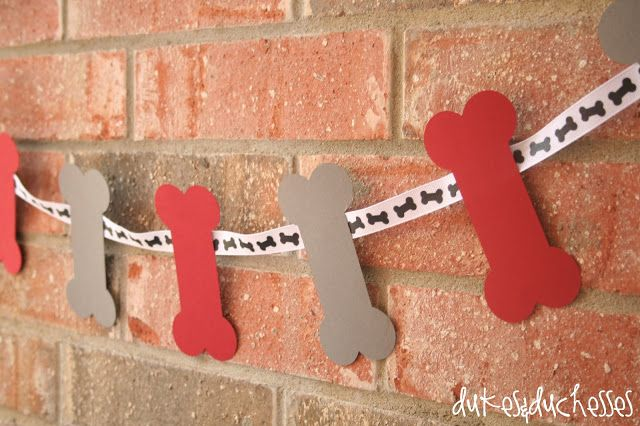 dog bone garland from the cutest puppy party