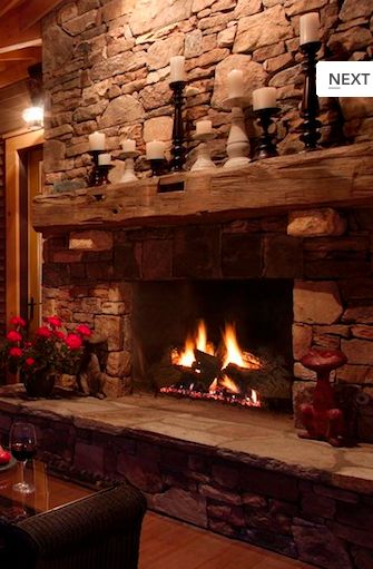 Love the old timber used for the fireplace mantle. I have an old barn beam that is waiting to be used