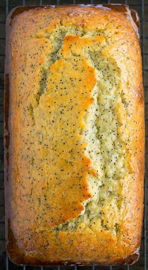 Lemon Poppy Seed Bread – The lemon flavor in this bread shines. It has a generous amount of zest layer