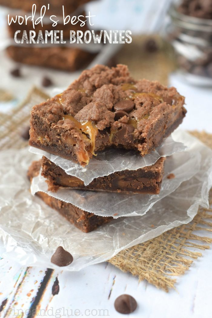 Worlds Best Caramel Brownies | These brownies are so good, they will quickly become a family favo