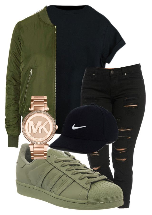 """""""winter falls outfit"""" by rabiamiah on Polyvore featuring adidas, Topshop, Michael Kors and N"""
